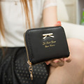 Hot Selling High Quality Women Fashion Cute Purse Clutch Wallet Short Small Bag PU Card