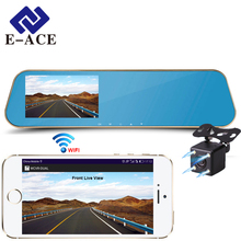 Buy E-ACE Wifi Car Dvrs Full HD 1080P Rear View Mirror With Dual Lens Camera Night Vision Dash Cam Automotive Out Video Recorder for $38.66 in AliExpress store