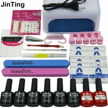 NAIL ART BASE TOOL 36W UV Lamp & 6 Color 10ml soak off Gel nail base gel top coat gel polish kit nail Manicure tools(China (Mainland))