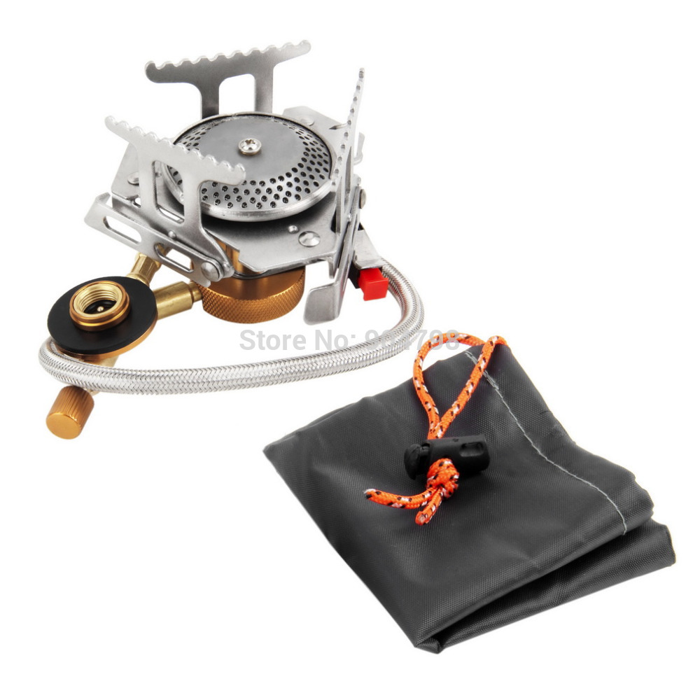 Ultralight Folding Backpacking Camping Stove Gas-powered Stove with Piezo Ignition for Outdoor Hiking Camping Fishing(China (Mainland))
