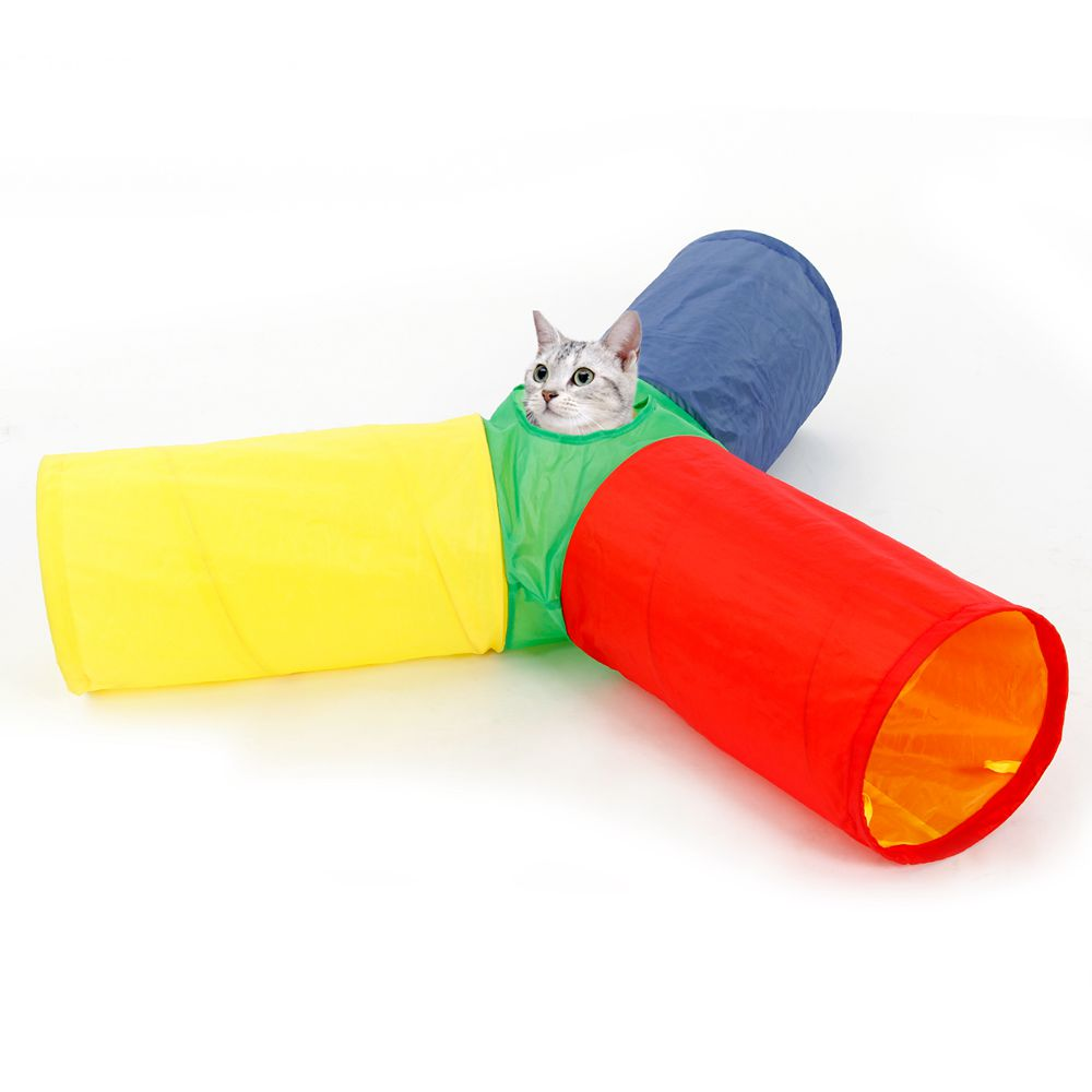 Domestic Delivery Products for Animals Cat Toys Cat Tunnel Crinkle With Ring Bell Kitten Toy Collapsible Bulk Rabbit Puppy Toys(China (Mainland))