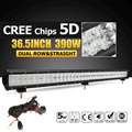 Oslamp 36 5 5D LED Light Bar CREE Chips 390W Combo Beam Offroad Led Work Light
