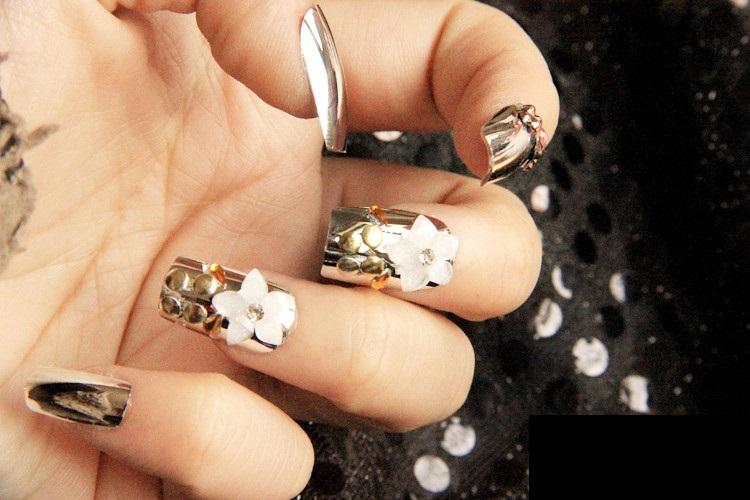 Color Metal Nail Tips Full