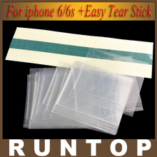 50pcs 4.7 inch High Quality for Mitsubishi 250um OCA Optical Clear Adhesive for iPhone 6/6s + 50 pcs Easy Tear Stick(China (Mainland))