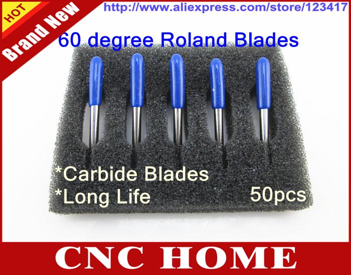 50 pieces/lot Carbide 60 Degree ROLAND GCC VINYL CUTTER PLOTTER BLADES - Shanghai CNC HOME Ltd. Co. store