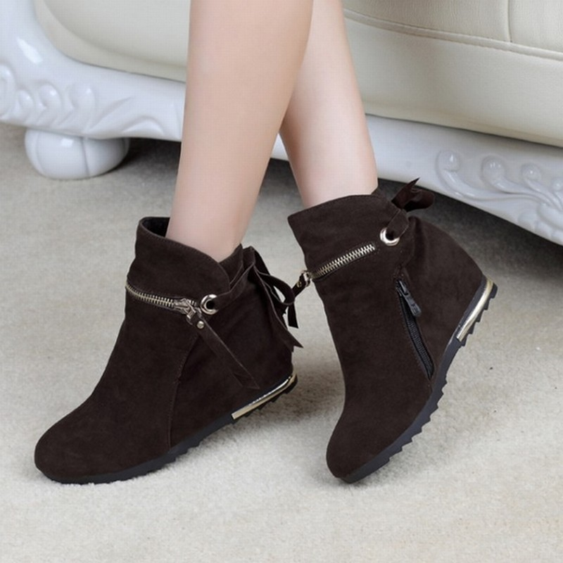 Low Heel Wedge Boots | Fs Heel