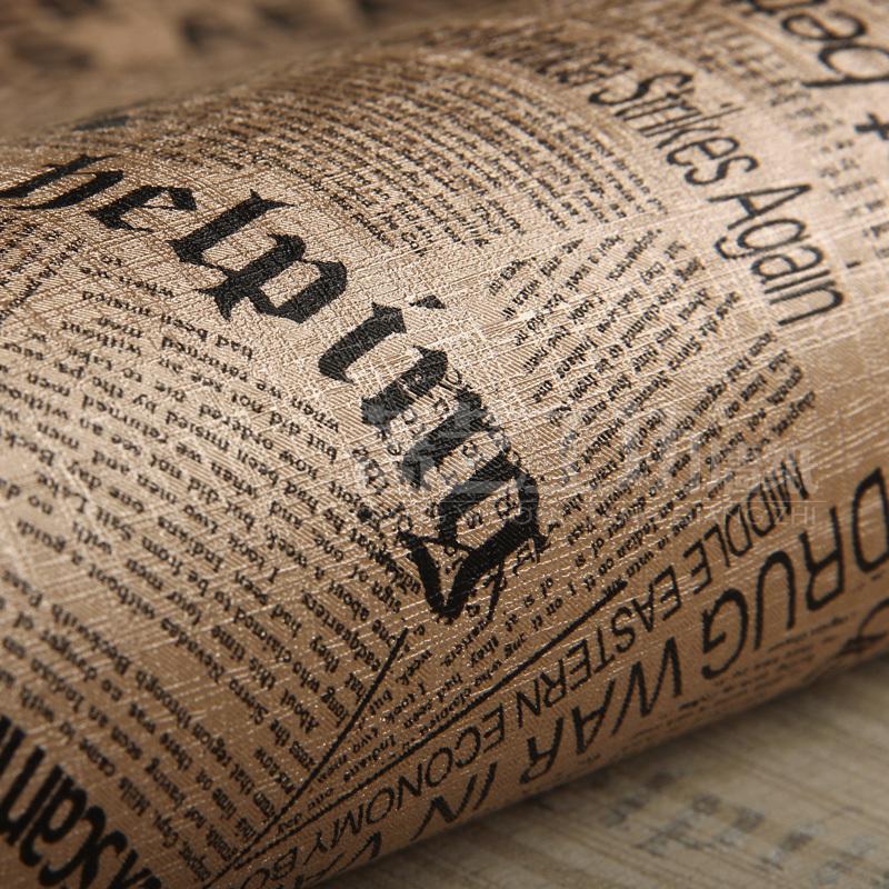behang Vintage Newspaper Wallpapers Background PVC Waterproof Wall ...