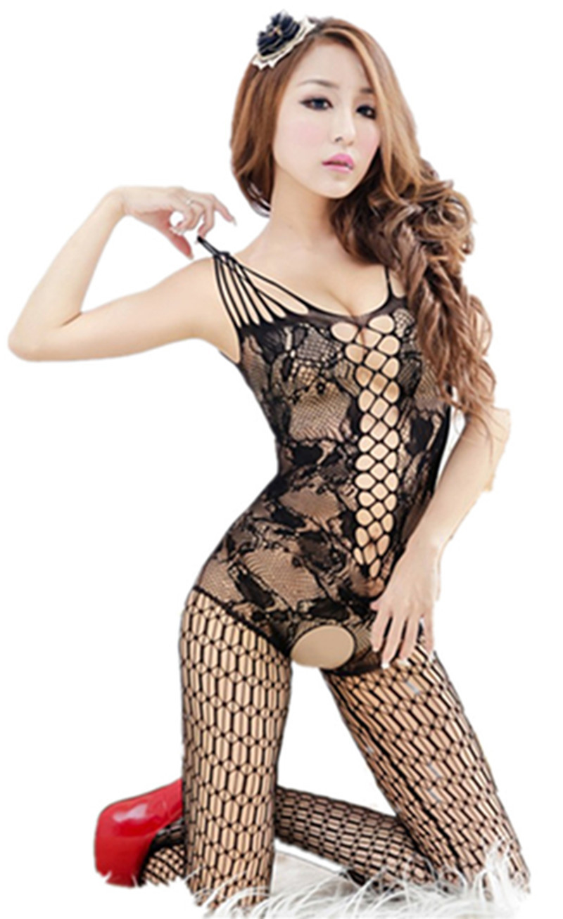Women's sexy lingerie sexy transparent Jacquard harness crotch piece netting bodystockings cleavage(China (Mainland))