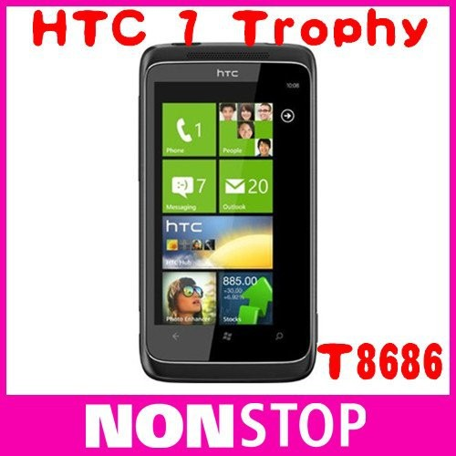 HTC 7 Trophy Original T8686 GSM Unlocked Windows 7 Cell Phone T-Mobile 5MP GPS WIFI cell phone mobile phone(China (Mainland))