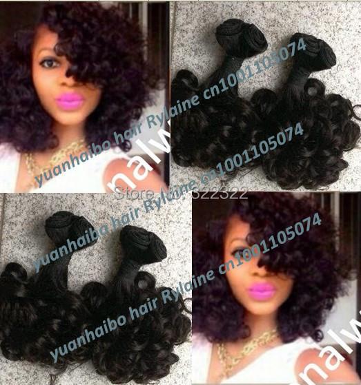 Top quality 6a grade 1b# 3pcs/lot bouncy curl peruvian aunty funmi hair weaves for black women free shipping<br><br>Aliexpress