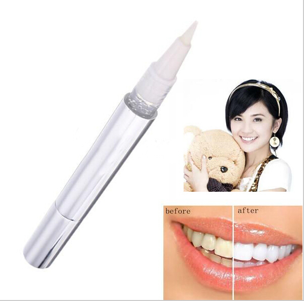 1 PCS Silvery White Bleach Stain Eraser Teeth Whitening Pen Tooth Gel Product Dental Pencil Whitener Remover Dentist Tooth Care(China (Mainland))