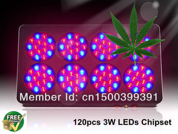 Factory Promotion Full spectrum Apollo 120*3W Grow light led for Hydroponic/Greenhouse with DHL&Fedex free shipping