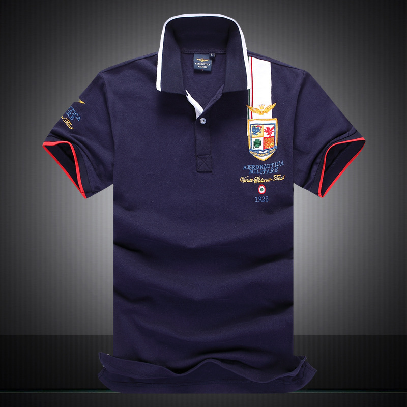 New 2015 Hot Selling Summer Men's Fashion Brand Cotton Tomy Short Sleeve Polos Short Deep Blue/Red/White Size M/L/XL/XXL(China (Mainland))