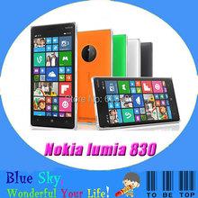 "Original Unlocked  Nokia Lumia 830 Cellphone 5.0""  Capacitive Screen Quad core Window Phone  8.1 1G RAM 16G ROM 4G mobile phone(China (Mainland))"