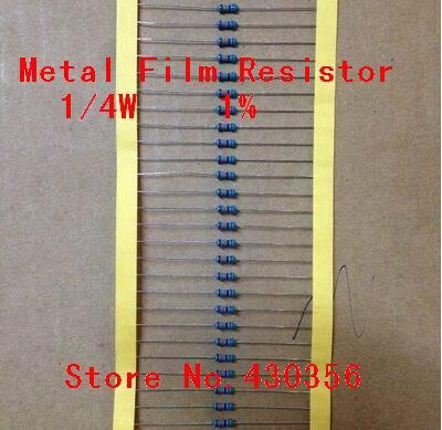 Free Shipping 50PCS 0 25W Metal Film Resistor 1 10K ohm 10K