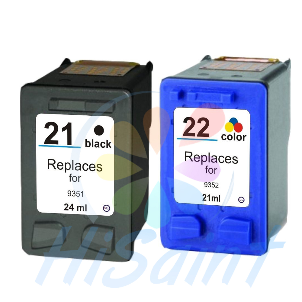 [Hisaint] Ink Cartridges For HP21 22 For F380 F2100 F2110 F2240 F2280 F2250 F4100 3915 3920 D1530 Printer Cartridge For HP 21 22(China (Mainland))