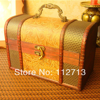 Vintage style handmade wooden box christmas box for storage box to storage desktop large gift box wholesale free shipping