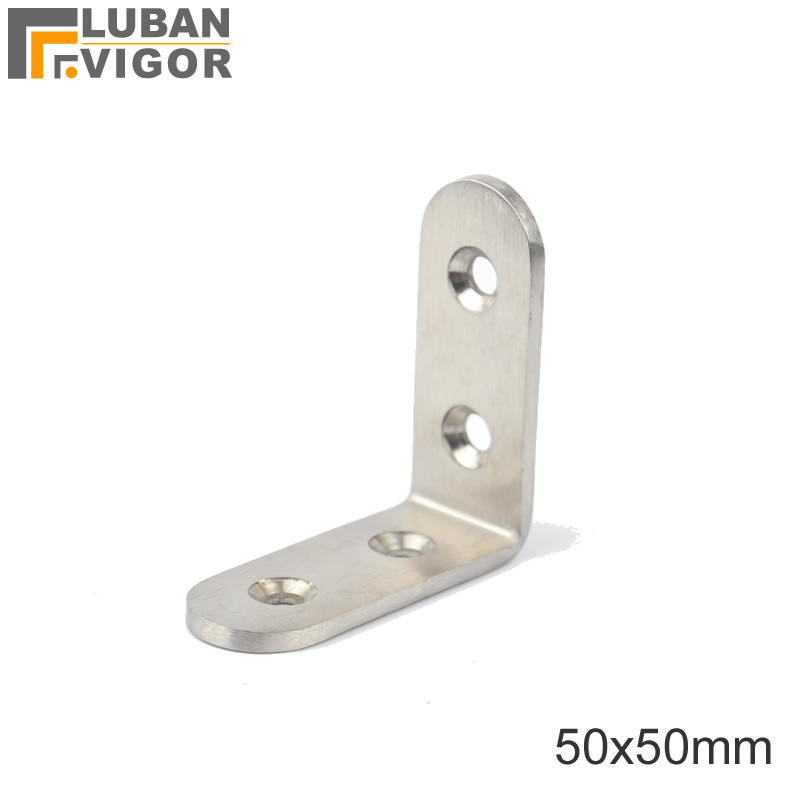 Stainless steel 50*50*20mm L-shaped,corner bracket,Angle iron Tables and chairs fixed fittings Connectors ,Furniture Hardware(China (Mainland))