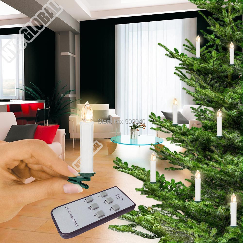 2remote control Christmas tree LED candle/Xmas's Decorations/Wedding Candle/Christmas decoration - NYS LIGHT store