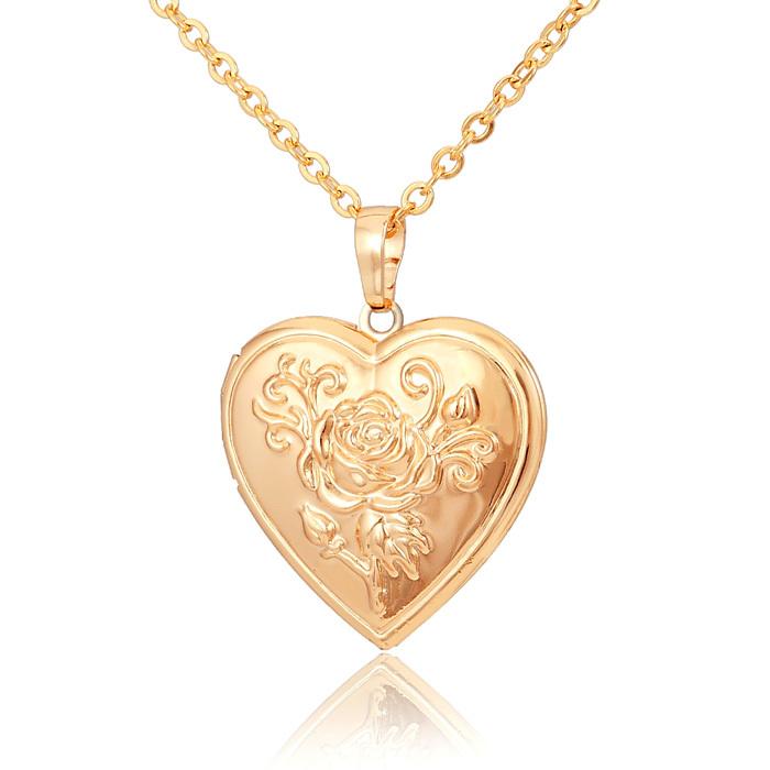 aliexpress buy locket necklace gold flower jewelry