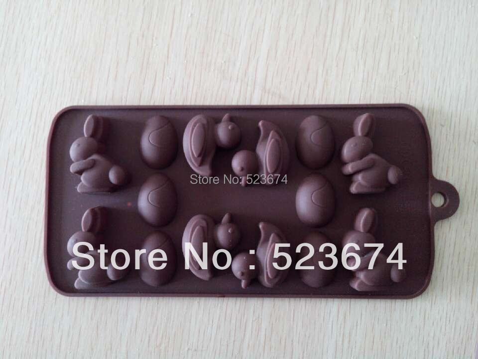 FDA Hot selling Easter day animals shape chocolate making mold silicone tools - Eileen Chou's store