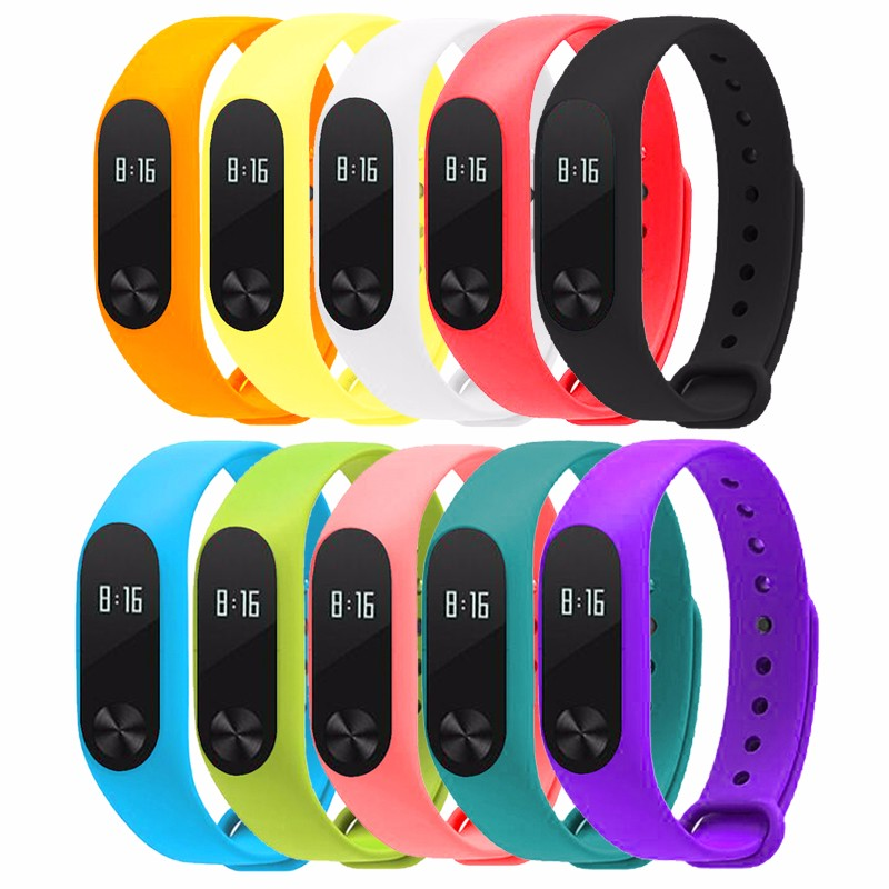 image for Smart Accessories Replacement Silicon Strap For Xiaomi Mi Band 2 Color