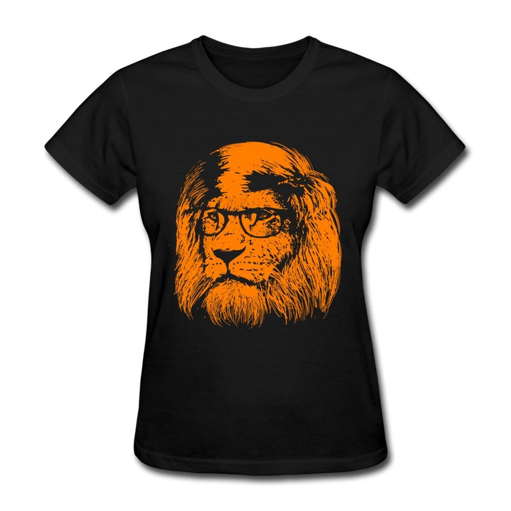 T Shirt Women Lion Slim Fit Smart Cat Make Own Women T