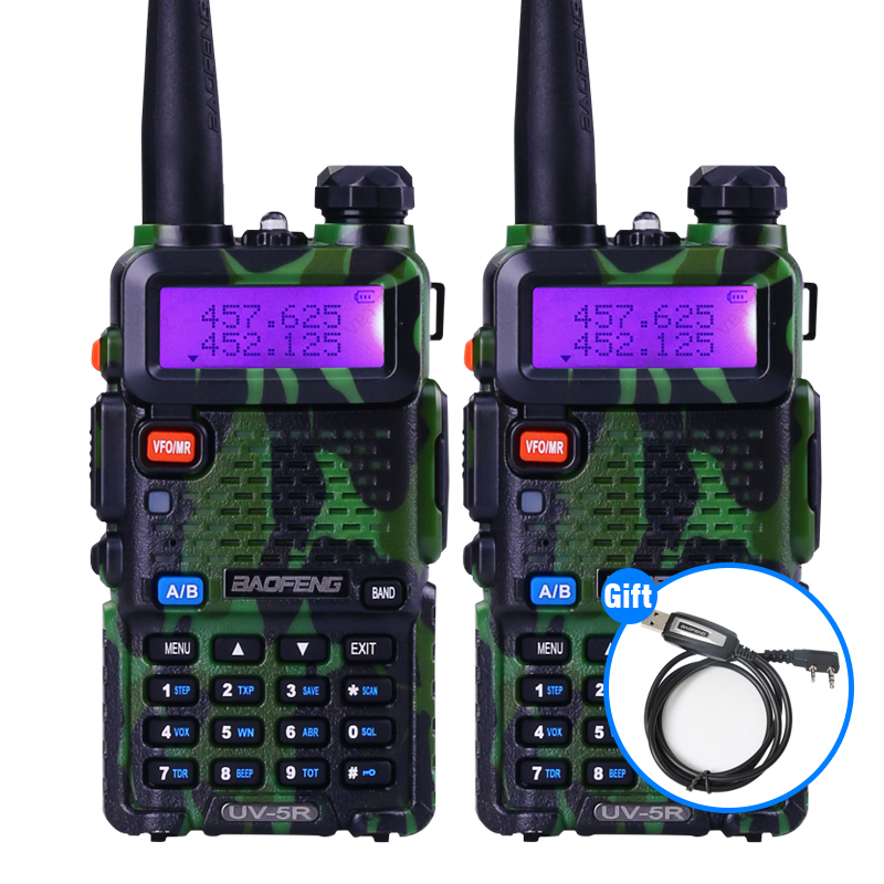 2Sets/Lot BaoFeng UV-5R Portable Radio VHF/UHF136-174Mhz/400-520Mhz Walkie-Talkie Ham Amateur Radio Communicator HF Transceiver(China (Mainland))