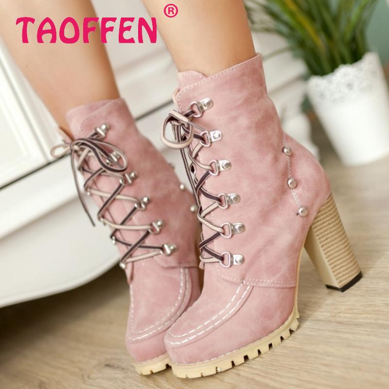 CooLcept Free shipping ankle half short high heel boots women snow fashion winter warm boot footwear shoes P9230 EUR size 34-39