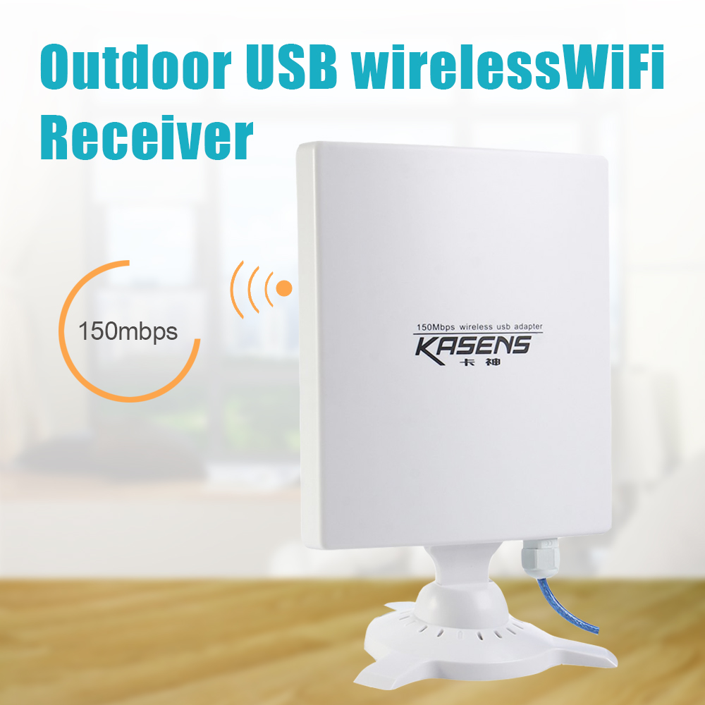 Kasens N9600 Outdoor High Power USB Adapter Wifi Network Card 80dbi Antenna antena waterproof 150Mbps Long Range English Version(China (Mainland))