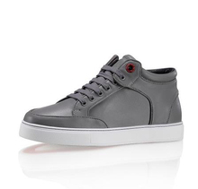 2015 new arrive Famous brand royaums men s shoes gray high top lace up lambskin casual
