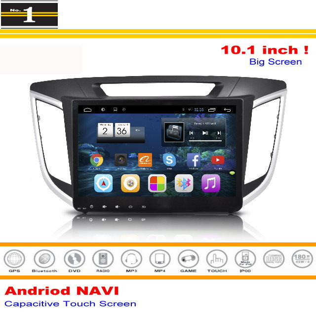 "For Hyundai IX25 / Creta 2014~2015 -Android GPS Navigation Multimedia System / 10.1""Screen Radio Audio Stereo No DVD Player(China (Mainland))"