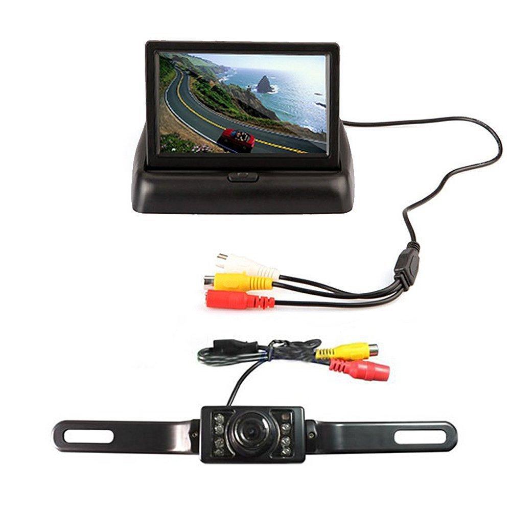 """4.3"""" Foldable TFT LCD Monitor Backup Reverse Monitor Night Vision + Universal 7pcs LED Night Vision Car Rear View Camera System(China (Mainland))"""