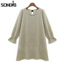 Solid color Women Knitted Sweaters 2015 Autumn Winter Fashion Casual Loose Long sleeve Pullover Tops Pull Femme(China (Mainland))
