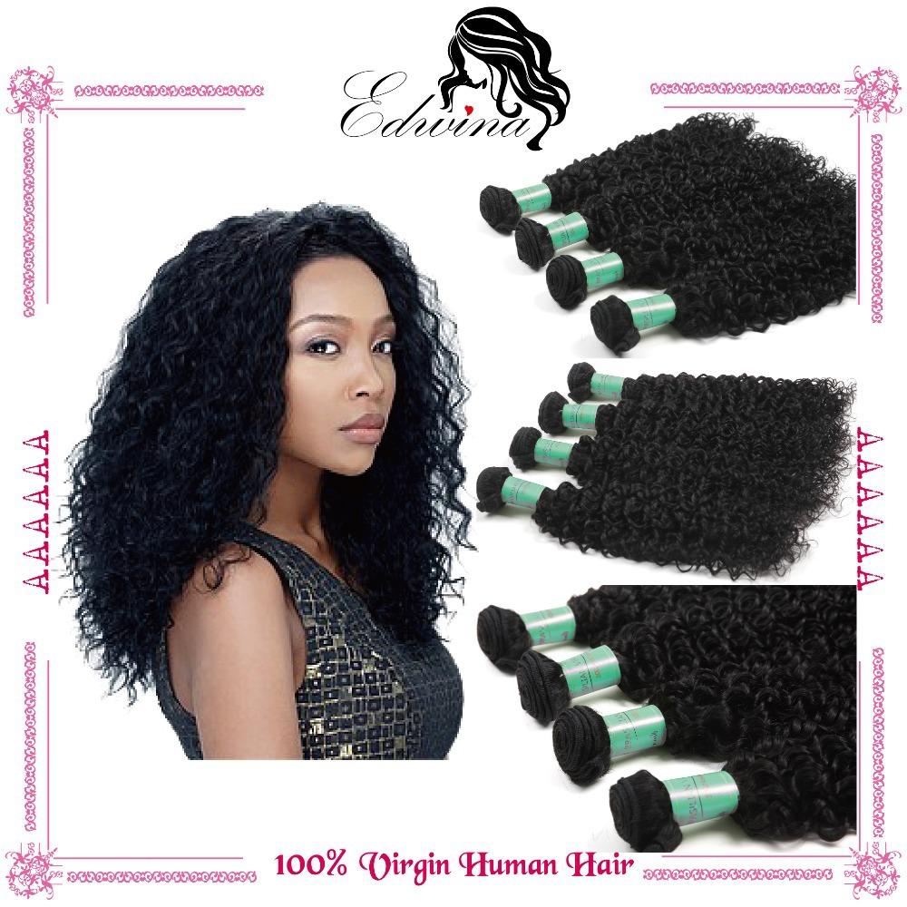 Brazilian Curly Virgin Hair Kinky Curly Grade 6a Unprocessed Virgin Hair Kinky Curly Wet And Wavy Hair 4 bundles human hair sale(China (Mainland))