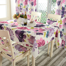 Table Cloth waterproof Tableclothes flower Print Dining Table Cover Kitchen Home Textile Home decor(China (Mainland))