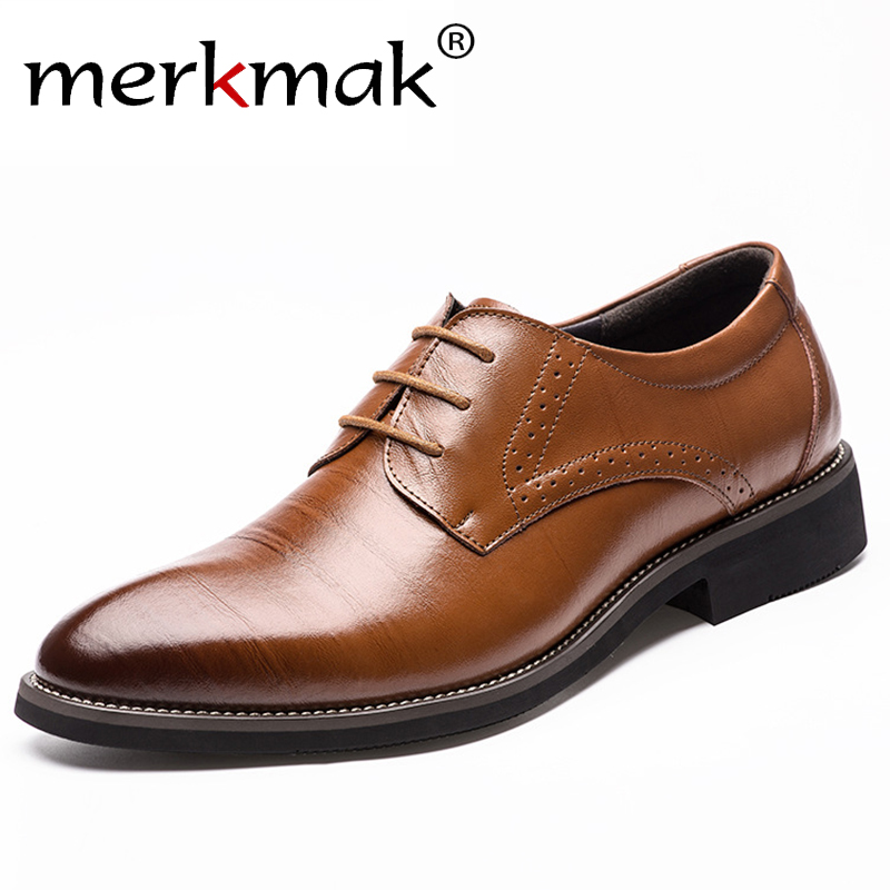 2016 New High Quality Genuine Leather Men Brogues Shoes Lace-Up Bullock Business Dress Men Oxfords Shoes Male Formal Shoes(China (Mainland))