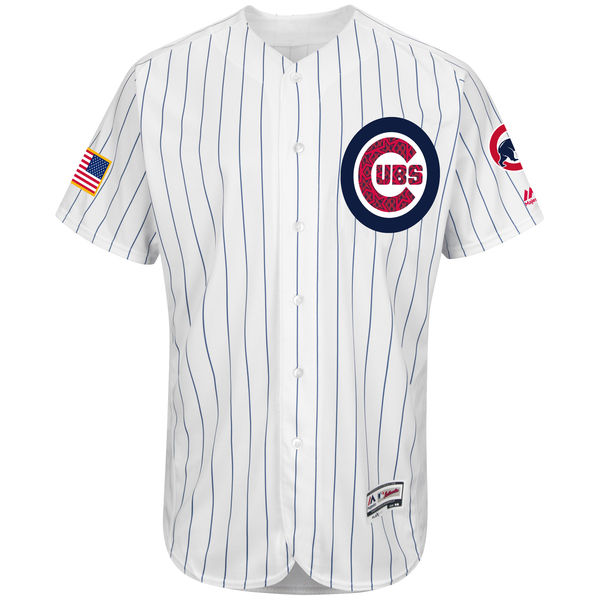 Chicago Cubs Majestic 2016 Fashion Stars & Stripes Flex Cool Base Cubs Jersey - White Throwback Baseball Jerseys(China (Mainland))