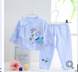 2016  Autumn Newborn Baby Pajamas Set For Girls Boys Cotton Cartoon Character Long Sleeve Sleepwear Robes Baby Clothing Set(China (Mainland))