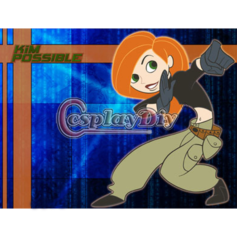 Kim Possible Cosplay Costume Adult Women Halloween Cosplay Outfit Custom Made D0604Одежда и ак�е��уары<br><br><br>Aliexpress