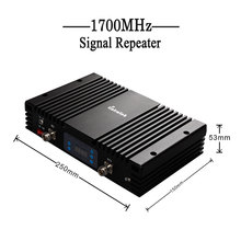 Lintratek NEW Powerful 4G LTE 1700MHz T-Mobile Cell Phone Booster AT&T LCD 70dbi Band4 AWS 1700MHz Mobile Phone Signal Amplifier