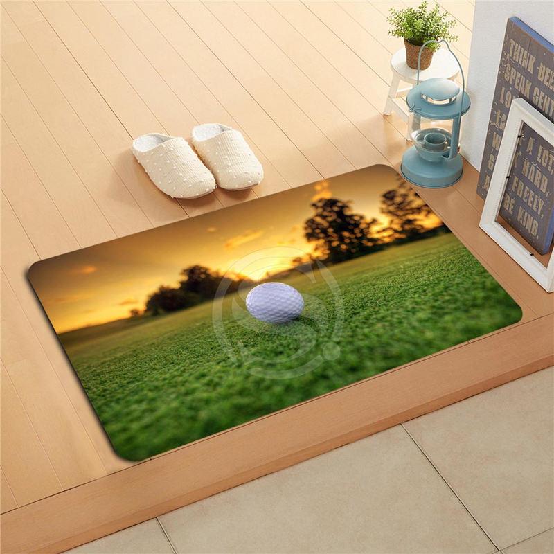 #q298r Custom golf ball sport Doormat Home Decor Door mat Floor Mat Bath Mats foot pad U-298rt-718u(China (Mainland))