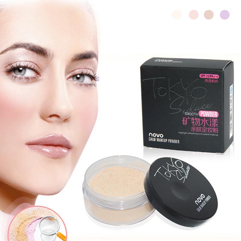 Brand New 4 Colors Smooth Loose Powder font b Makeup b font Transparent Finishing Powder Waterproof