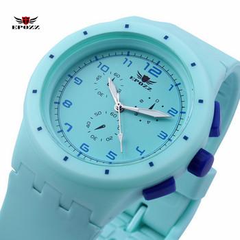 EPOZZ Girl Silicone School Watch Analog Sport Brand Children Wristwatch Waterproof reloj mujer relogio 859