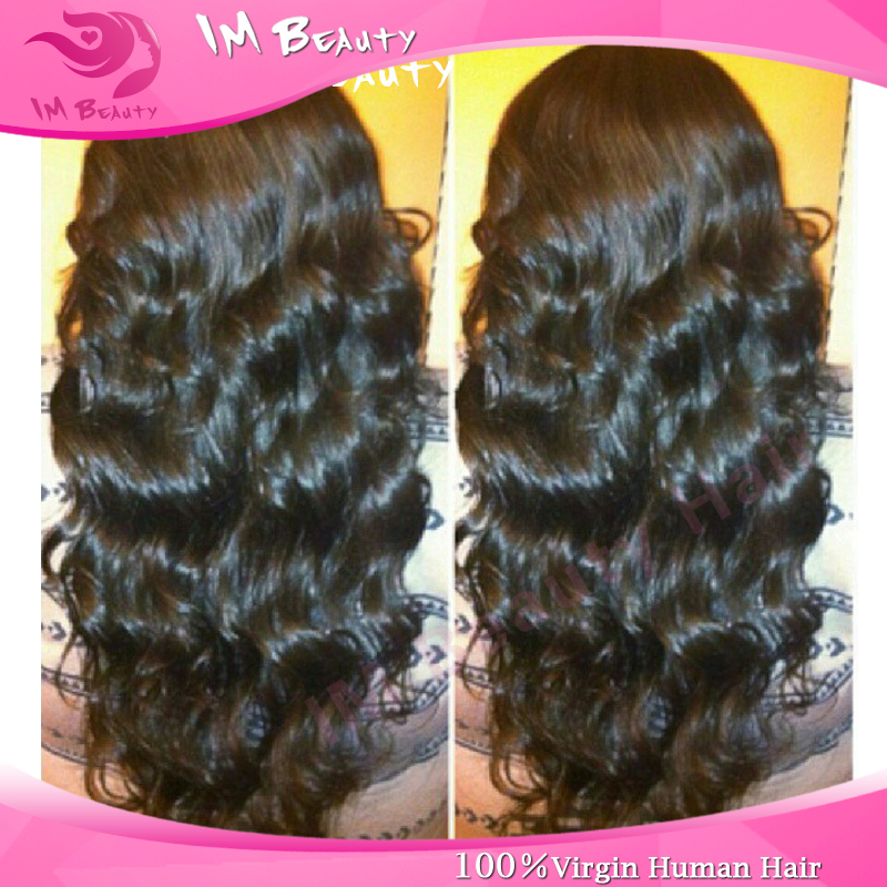100% Virgin brazilian full lace wigs/lace front wigs body wave glueless human hair wigs baby hair around for black women()
