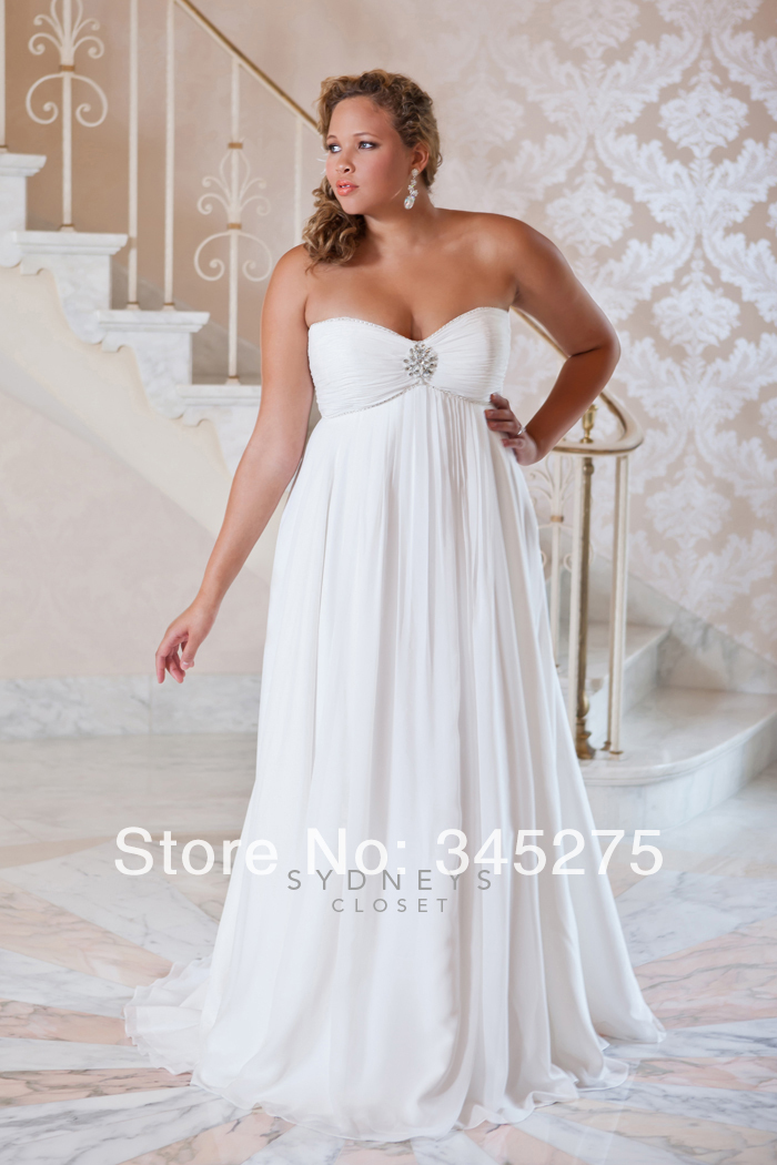 Buy sweetheart rhinestone and pearl motif for Plus size wedding dress store