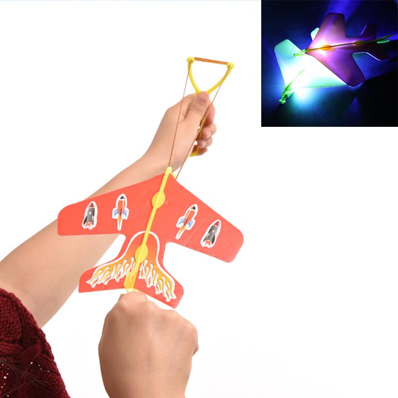 Amazing LED Light Arrow Plane Party Fun Gift Led Light Kids Flying Toys Helicopter Flying Toy(China (Mainland))