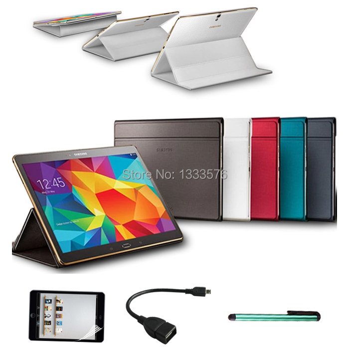 Гаджет  1:1 Case for Samsung Galaxy Tab S 10.5 T800 Business Stand Tablet Leather Case Cover for Samsung Tab S 10.5+Stylus Pen+Foil+OTG None Компьютер & сеть
