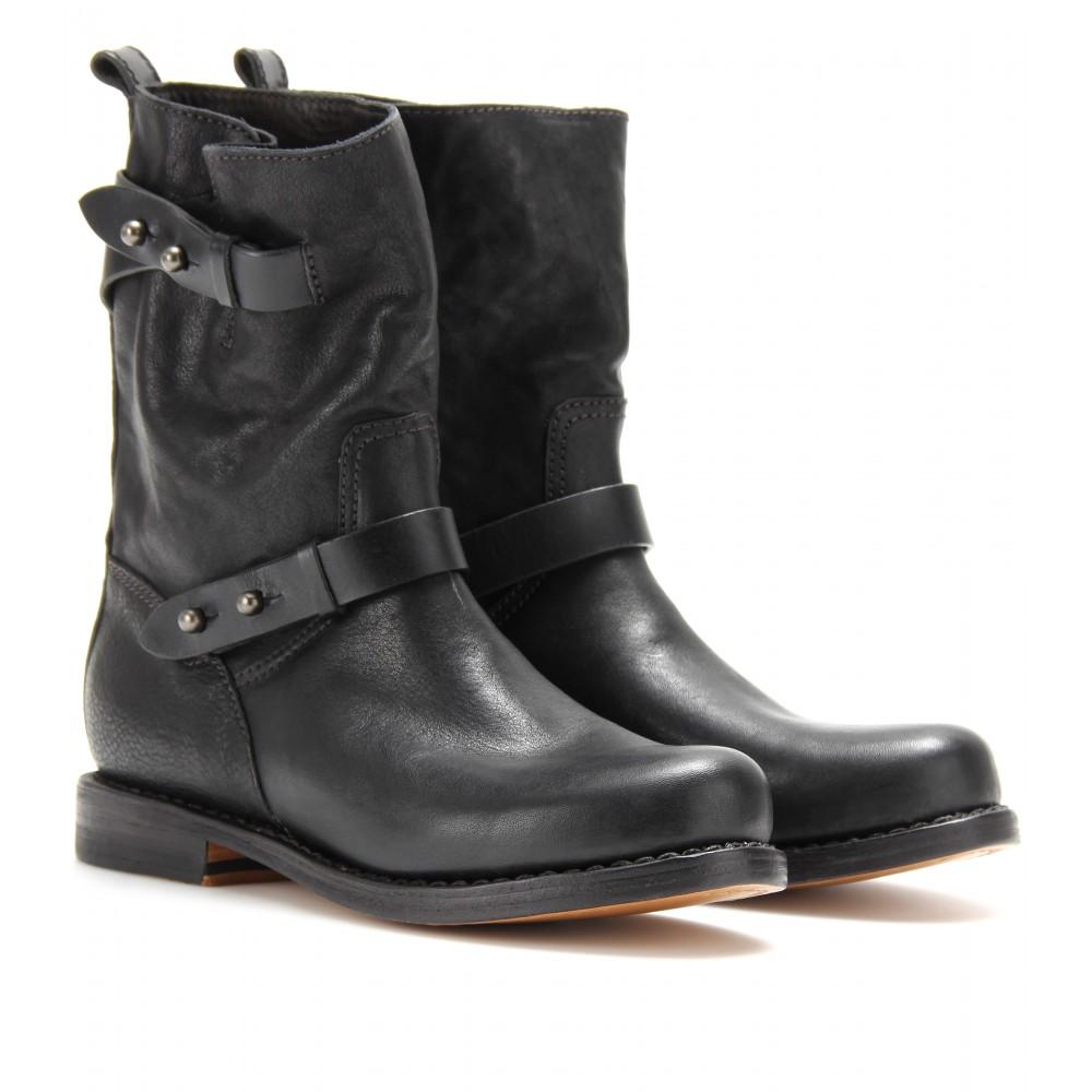 2014 rag bone black genuine leather rivet boots winter