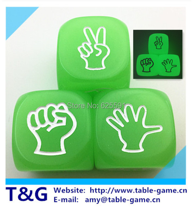 3pc/lot  High Quality 20mm Glow Mora Dice Glow in the Dark Bar Party Pub Fun Funny Toy Night-Light Drinking <br><br>Aliexpress